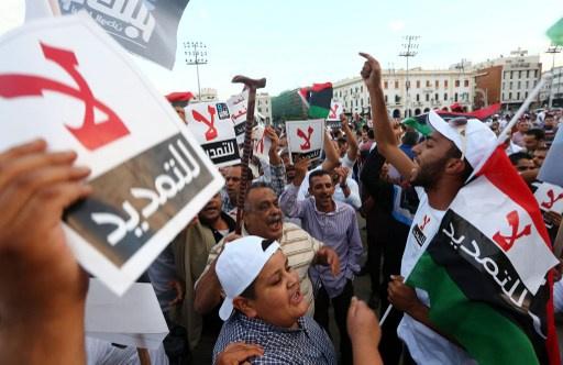 ليبيا.. مظاهرة حاشدة في طرابلس ضد التمديد للمؤتمر الوطني العام