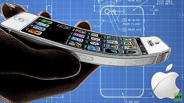 آبل تطوّر هواتف أيفون بشاشة منحنية