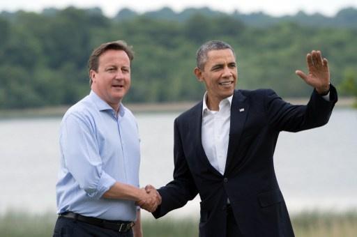 أوباما وكاميرون يؤيدان مواصلة مفاوضات جنيف حول سورية وإيران