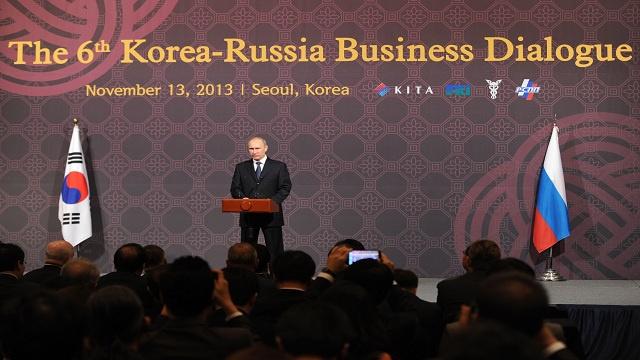 بوتين يدعو لزيادة الاستثمارات المتبادلة والتعاون الاقتصادي مع كوريا الجنوبية