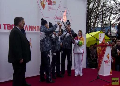 شعلة أولمبياد 2014 في أقصى الشرق الروسي