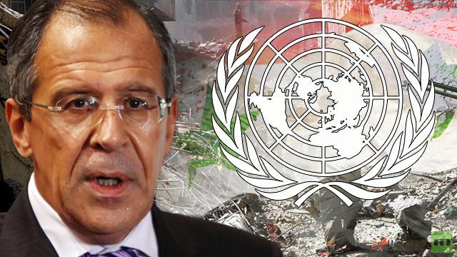 لافروف: محاولات استغلال الوضع الإنساني لتمرير خطة التدخل في سورية بمجلس الأمن لن تنجح