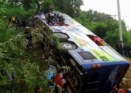 إصابة 23 سائحا روسيا بحادث سير في تايلاند