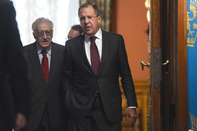الخارجية الروسية: لافروف والابراهيمي يأملان في تنسيق المسائل العالقة بشأن جنيف-2 يوم 25 نوفمبر
