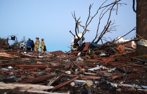 عواصف قوية تودي بحياة 5 اشخاص على الاقل في الولايات المتحدة