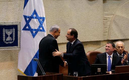 هولاند يدعو الى تقاسم القدس بين اسرائيل وفلسطين.. ونتانياهو يدعو عباس الى الكنيست