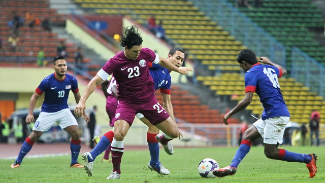العنابي القطري يبلغ نهائيات كأس آسيا 2015 من بوابة ماليزيا