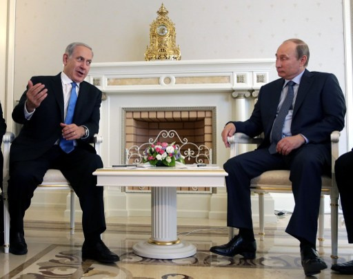بوتين يلتقي نتنياهو اليوم في موسكو لبحث رزمة من القضايا الدولية والاقليمية
