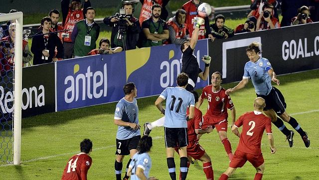 الأوروغواي تحجز آخر بطاقة الى مونديال 2014 والأردن يعود الى دياره بنتيجة مشرفة