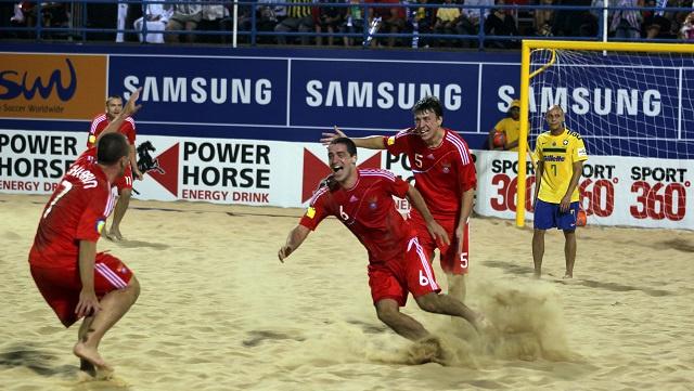 روسيا تهزم البرازيل وتبلغ نصف نهائي كأس القارات لكرة القدم الشاطئية
