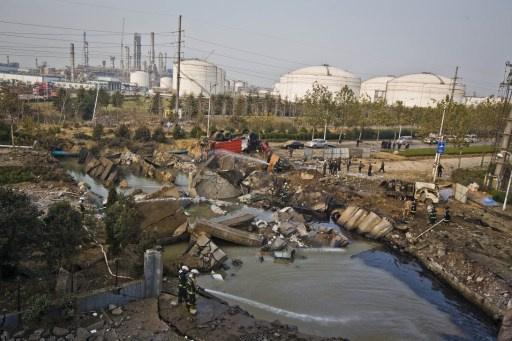 مصرع 47 شخصا واصابة 166 آخرين في انفجار انبوب نفط في الصين