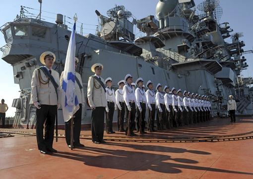 ورشة عائمة تابعة لأسطول البحر الأسود الروسي تتوجه إلى ميناء طرطوس