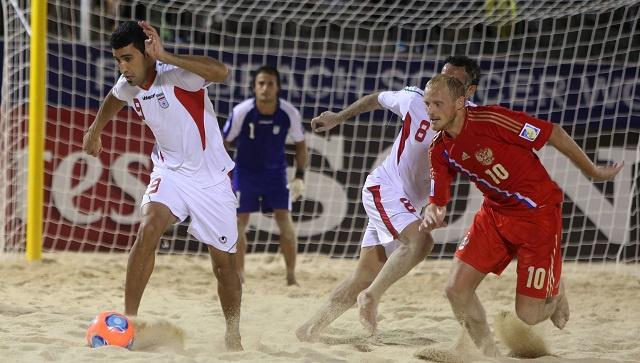 ايران تجرد روسيا من بطولة كأس القارات لكرة القدم الشاطئية
