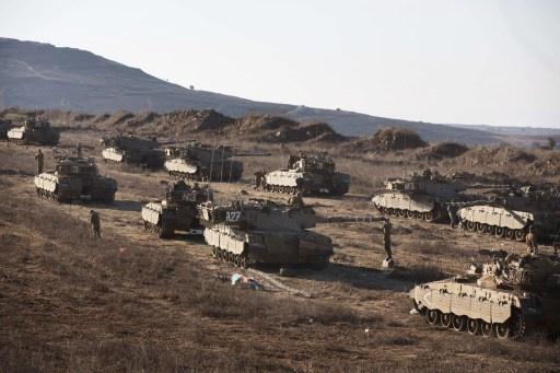 الجيش الإسرائيلي يبدء مناورات ضخمة تحاكي عملية إحتلال لقطاع غزة