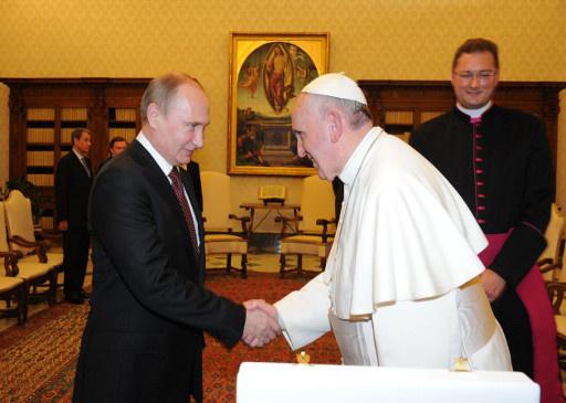 الفاتيكان: لقاء بوتين مع البابا يعزز الأمل بإحلال السلام في سورية
