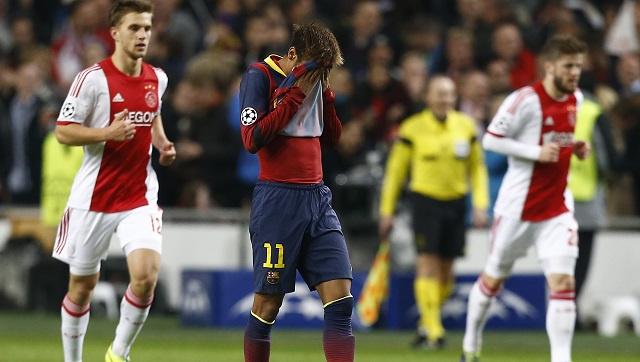 أياكس يسقط برشلونة في غياب ميسي في دوري الأبطال