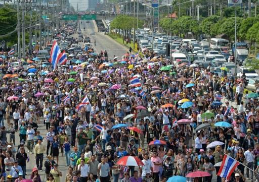اتساع المظاهرات في تايلاند لتشمل مدنا جديدة