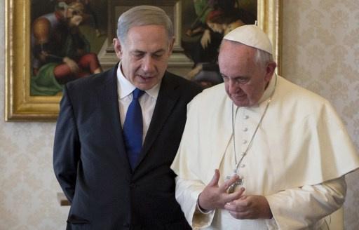 بابا الفاتيكان يلتقي نتانياهو ويبحث معه عملية السلام في الشرق الأوسط