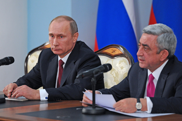 بوتين: سعر الغاز الروسي لأرمينيا سيكون 189 دولارا لكل ألف متر مكعب