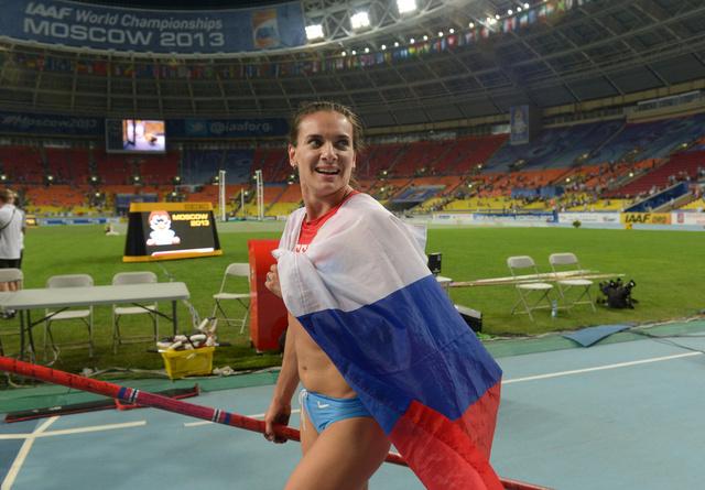 ايسينبايفا ومينكوف أفضل رياضيين في ألعاب القوى الروسية لعام 2013