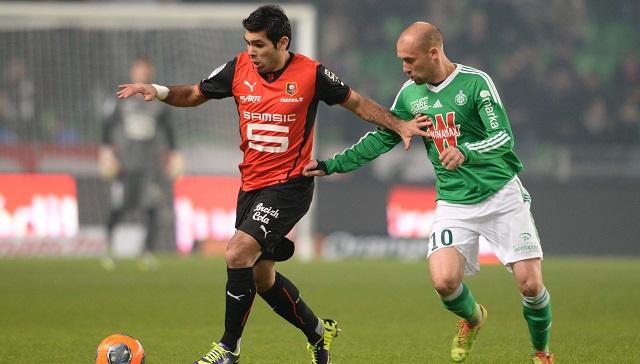 سانت إيتيان يسقط أمام رين بثلاثية في الدوري الفرنسي
