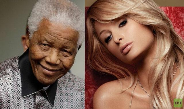 باريس هيلتون تنعى مانديلا وتقع في خطأ فادح