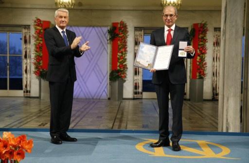 منظمة حظر الاسلحة الكيميائية تتسلم جائزة نوبل للسلام