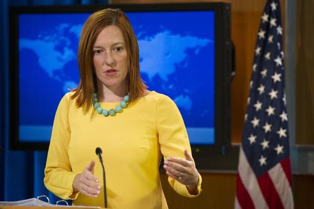 بساكي: الولايات المتحدة تدرس إمكانية فرض عقوبات على أوكرانيا إثر استخدام القوة ضد المتظاهرين