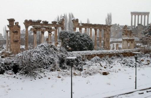 تساقط الثلوج في لبنان وفلسطين وسورية والأردن والعراق.. وأدنى درجات للحرارة منذ 122 عاما في القاهرة