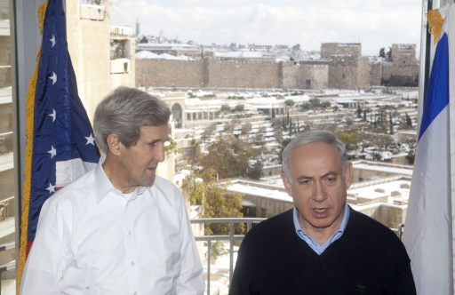 كيري يلتقي نتانياهو ثانية خلال أسبوع لبحث الحدود والعقوبات ضد طهران