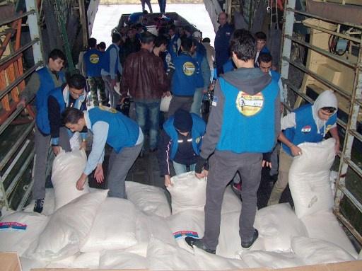 روسيا ترسل 10 أطنان مساعدات إنسانية إلى سورية