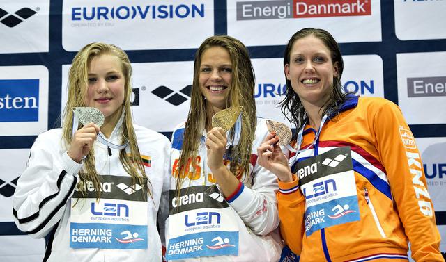 الروسية يفيموفا تحرز ثاني ذهبية في بطولة أوروبا للسباحة وتسجل رقما قياسيا عالميا