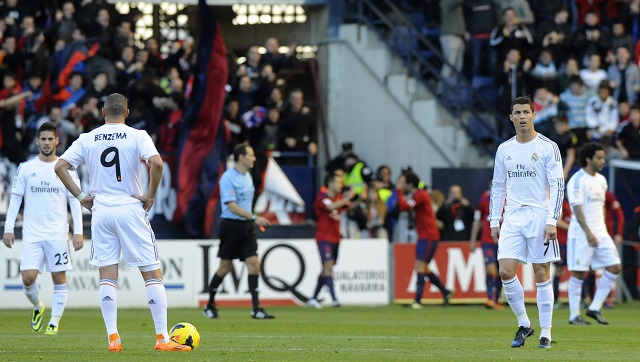 ريال مدريد يقع في كمين أوساسونا قاهر الكبار
