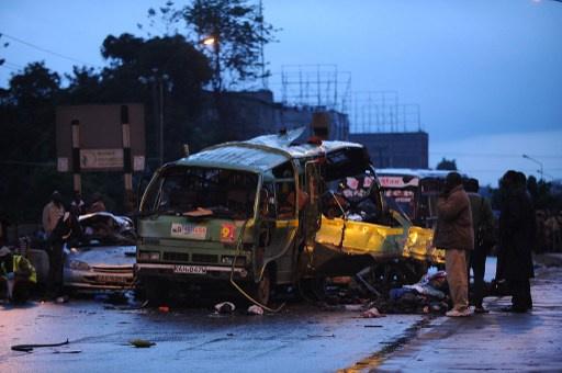 مقتل 4 أشخاص بتفجير حافلة في العاصمة نيروبي