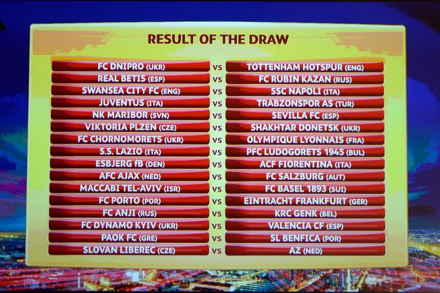 نتائج قرعة دور الـ32 من الدوري الأوروبي