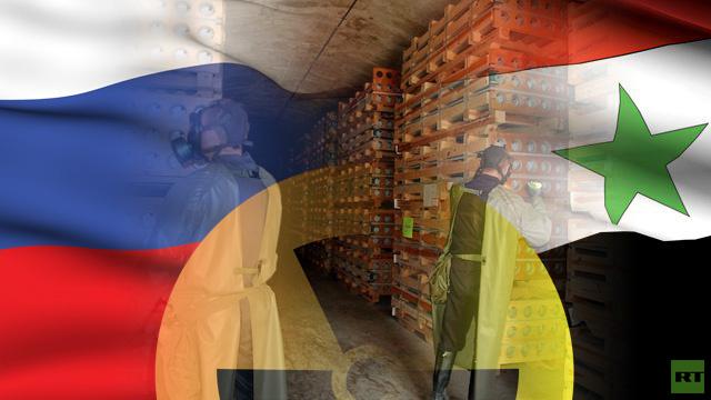 روسيا تقدم مليوني دولار لتمويل نقل الأسلحة الكيميائية السورية الى مكان إتلافها