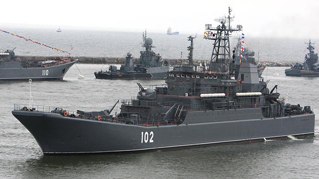 سفينة إنزال روسية تتجه من بحر البلطيق إلى المتوسط