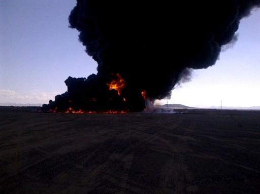 تفجير أنبوب النفط في شبوة في جنوب اليمن