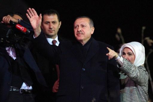 أردوغان يندد بالقضاء والمتظاهرين المناهضين له