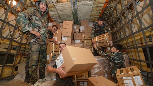 روسيا ترسل مساعدات إنسانية للمتضررين في سورية وتتعهد بتقديم المزيد