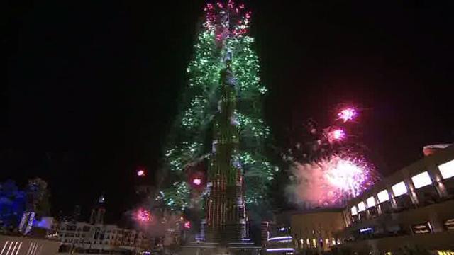 احتفالات عيد رأس السنة من برج خليفة في دبي