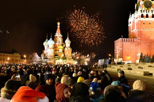 اصابة 40 في موسكو و100 في ايطاليا و30 في سيريلانكا اثناء الاحتفال بحلول عام 2014