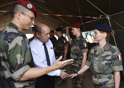 وزير الدفاع الفرنسي: لا يوجد خطر الانزلاق في ازمة افريقيا الوسطى