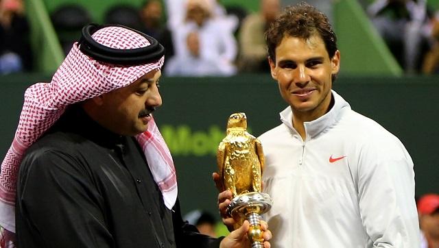 نادال يتوج بلقب بطل دورة قطر المفتوحة للتنس