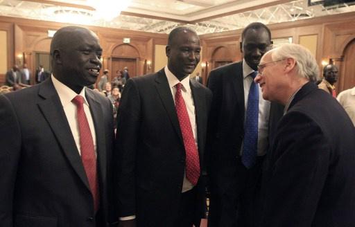 لقاء وفدي مفاوضات جنوب السودان