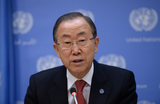 بان كي مون يرحب ببدء نقل الأسلحة الكيميائية من سورية