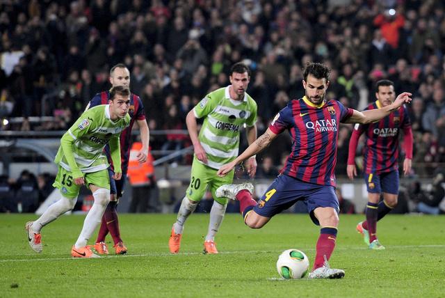 كأس ملك إسبانيا.. برشلونة يهزم خيتافي في ليلة فابريغاس وميسي