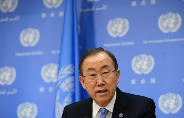 بان كي مون: على جميع الأطراف أن تبحث عن حل سياسي للأزمة السورية وتطبيق بيان جنيف
