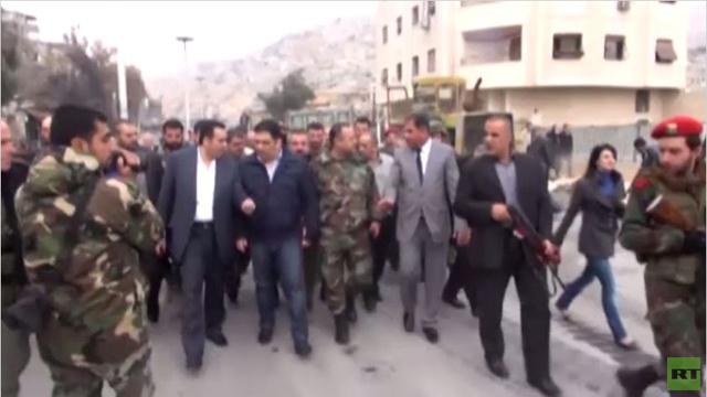 بالفيديو...محافظ دمشق يتوجه لبرزة بعداتفاق حول وقف اطلاق النار