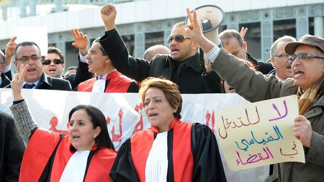القضاة التونسيون ابتداء من اليوم في إضراب لمدة أسبوع
